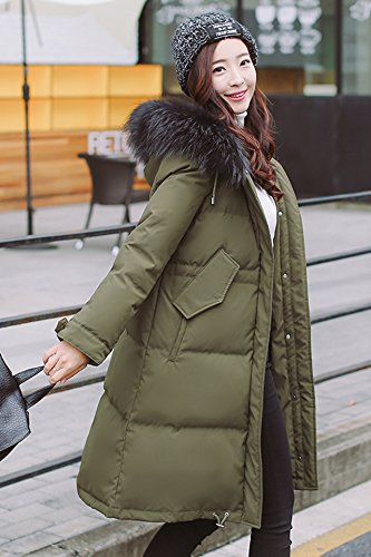 Generic Special-season Korean new long section thick winter jacket female loose waist was thin oversized fur collar coat for women girl by Generic (Image #3)