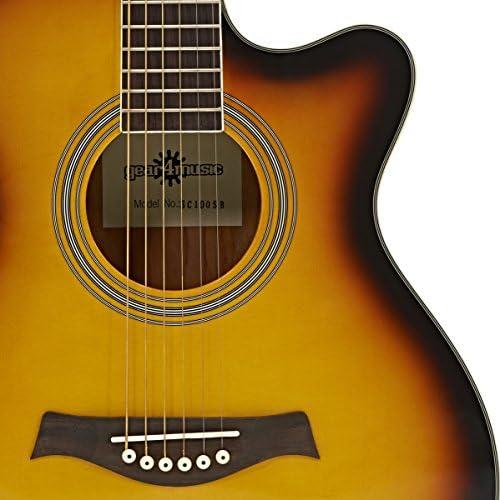Guitarra Electroacustica Single Cutaway de Gear4music - Sunburst ...