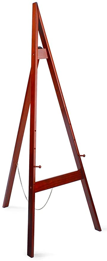 Amazoncom Displays2go Wooden Floor Easel With Height Adjustable