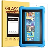 2017 All-New Fire 7 Kids Edition Screen Protector, SPARIN Tempered Glass for All-New Fire 7 Kids Edition Tablet (7th Gen, 2017 Release) with Bubble Free/Scratch Resistant/HD Clear
