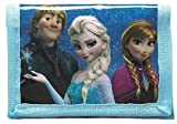 Disney Frozen Tri-Fold Wallet with Zipped Compartment featuring Anna and Elsa