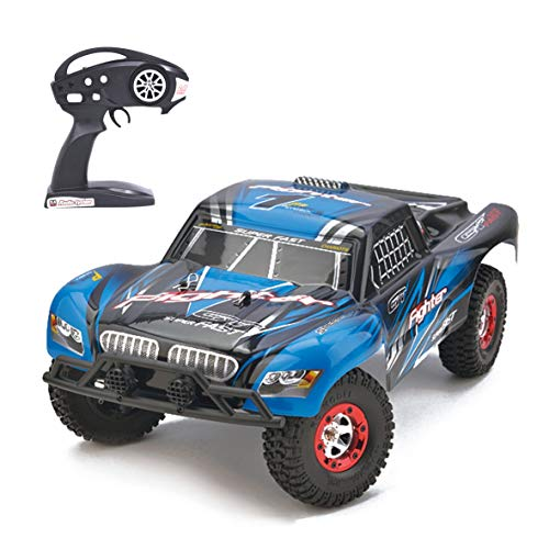 Aiitoy 1:12 Scale RC Car High Speed 4WD 2.4Ghz Remote Control Truck, RTR Radio Controlled Off-Road Monster Truck R/C Hobby Grade for Kids and Adults FY01 (Blue)