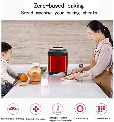 450W Automatic Brood Machine, Intelligent Fast Breadmaker, 450g / 750g twee opties, 3 Naast Verbrand Kleuren, 18's, 13 uur Tijd van de benoeming, Red liuchang20