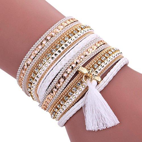 Vintage Hand Made Woven Bracelet (White) - 2