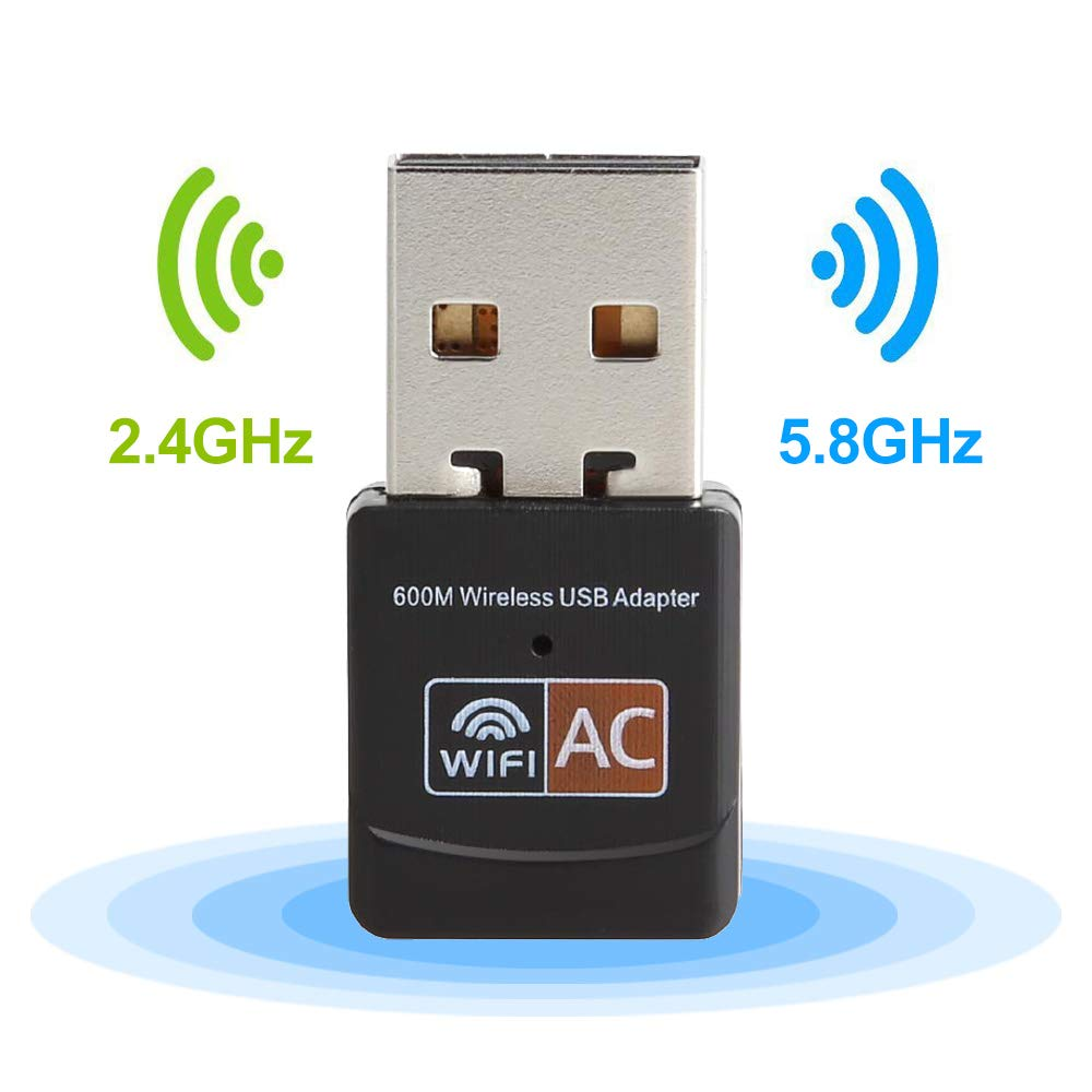 Diffingle Wireless USB Wifi Adapter 600Mbps 802.11ac 2.4GHz/300Mbps 5GHz/867Mbps USB Adapter Network Card Wifi Receiver For Windows XP/Vista/7/8/8.1/10 (32/64bits) MAC OS by Diffingle