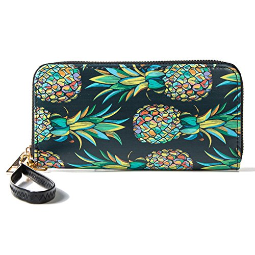 Women Wristlet Ladies Wallet RFID Zip Around Clutch Purse with Phone Compartment by Artmi
