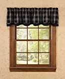 Cheap Park Designs Black Coffee Lined Layered Valance, 72 x 16″