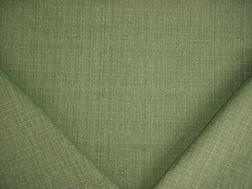 (14RT8 - Lime / Celery Green Textured Basketweave Designer Upholstery Drapery Fabric - By the Yard)