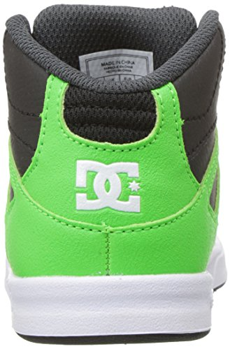DC Jugend Rebound Skate Schuhe Grün / Grau / Weiß