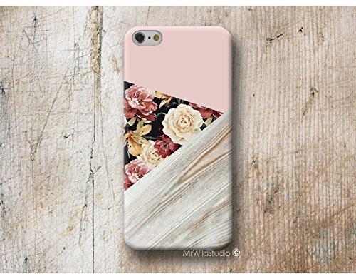 Rose Floral Bois Print Coque Étui Phone Case pour Samsung Galaxy S9 S8 Plus S7 S6 Edge S5 S4 mini A3 A5 J3 J5 J7 Note 9 8 5 4 Core Grand Prime