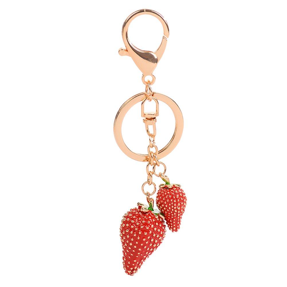 Amazon.com   Fashion Cute Strawberry Keychain Key Chain Key Ring Bag  Pendant Handbag Jewelry Gifts (Red)   Clothing 5a0d34391