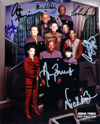 Star Trek Deep Space 9 Cast Signed Autographed 8 X 10 Reprint Photo - (Mint Condition) from Nostalgic Cards & Autographs
