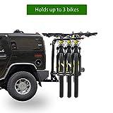 LIAOWY Bike Rack for Car Hitch Mount, 3-Bike