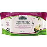 Aleva Naturals 37941 Bamboo Baby Wipes Travel, 30-Count, Beige