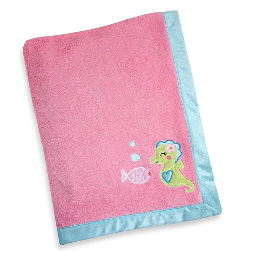 (Sea Collection Appliqued Coral Fleece Baby Blanket by Carter's)