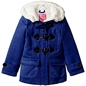 Pink Platinum Little Girls' Wool Toggle Coat, Royal, 4