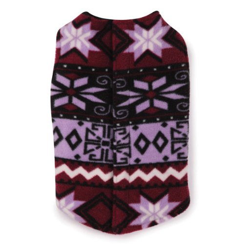 East Side Collection Polyester Fashion Fleece Dog Vest, Small, 12-Inch, Purple, My Pet Supplies