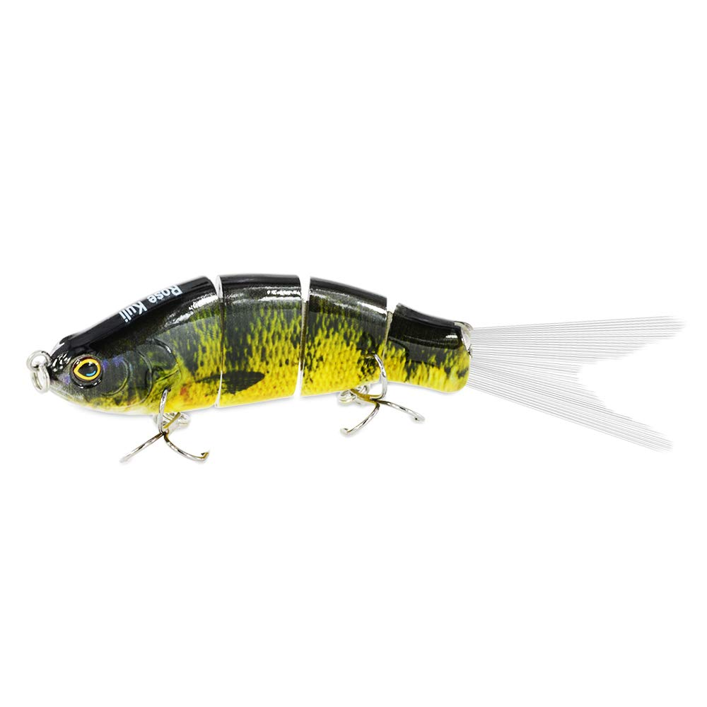 ROSE KULI Bass Fishing Lures Freshwater Sinking Swimbaits Multi Jointed Trout Crankbaits Life-Like Fish Tackle Kits by ROSE KULI