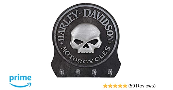 HARLEY-DAVIDSON Sculpted 3D Willie G Skull Key Rack, Textured Finish HDL-15313