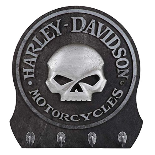 - Harley-Davidson Sculpted 3D Willie G Skull Key Rack, Textured Finish HDL-15313