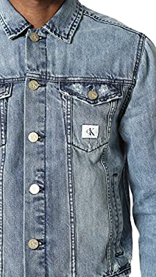 Calvin Klein Jeans Men's Reissue Logo Denim Trucker Jacket