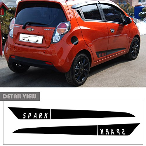 LIGHTKOREA Door Side Line Decal Protector Sticker Black For Chevrolet Chevy Spark 2011 2016