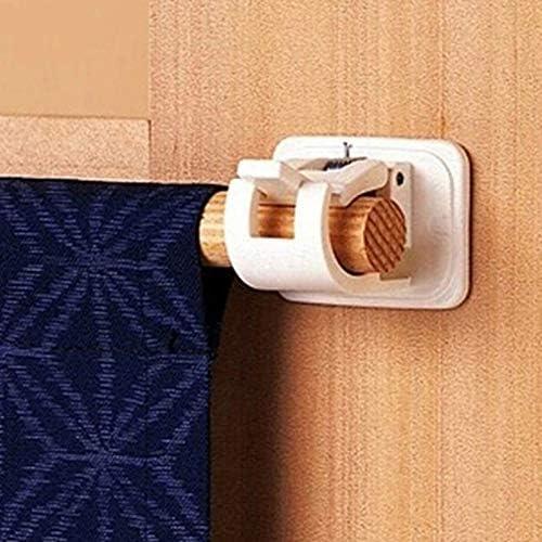 Yapott 1 Pair Self Adhesive Hooks Towel Curtain Bracket Drapery Pole Hanging Rod Clip