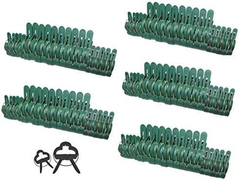 KBS24 - 100 Stück Pflanzenclips Pflanzenklammern Pflanzenhalter Pflanzenbinder Rankhilfe für Tomaten, Gurken, Rosen oder ähnliche Rankpflanzen in 2 Größen (50 große + 50 kleine)
