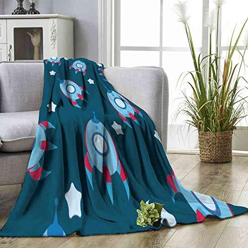 Big datastore Blanket Seamless Blue boyish Wallpaper Oversized Blanket Size:30