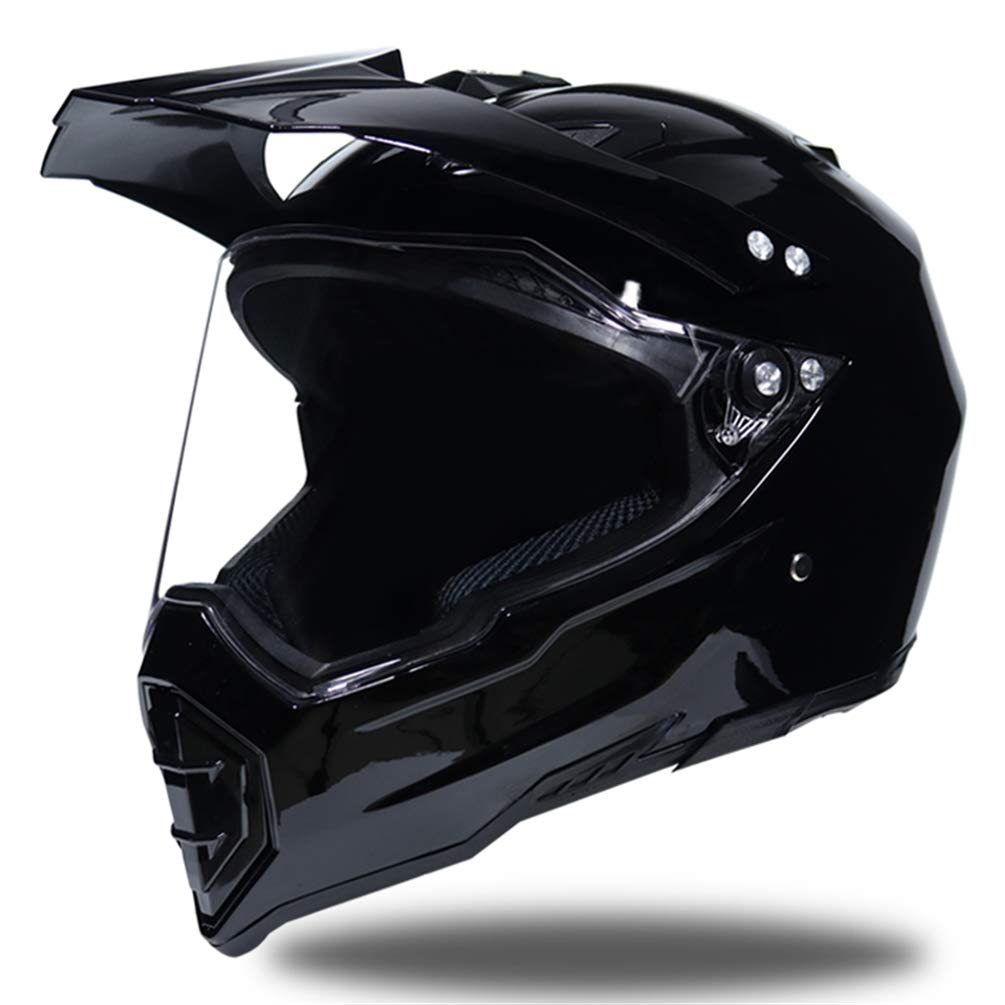 Erwachsene Anti-UV-Objektiv Flip Up Motorradhelm Off-Road Full Face Motorradhelm Moto Safety Caps 55-62cm