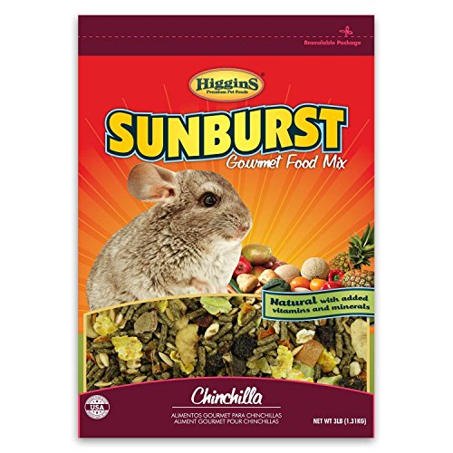 Higgins 466034 Sunburst Gourmet Chinchilla Food Mix 3 Lb (1 Pack), One Size