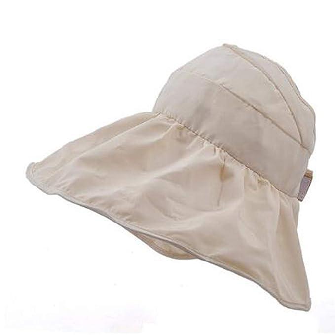 Womens Sun Visor Hats Canvas Anti-UV Summer Hat Large Brim Waterproof  Foldable Solid Travel Classic Beach Cap at Amazon Women s Clothing store  2b6ab83517
