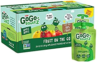 GoGo SqueeZ Applesauce on the Go, Variety Pack, 3.2 Ounce Portable BPA-Free Pouches, Gluten-Free, 20 Total Pouches