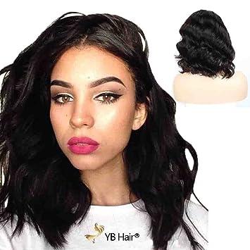 Amazon Com Yb Hair Lace Front Wigs Human Hair Virgin 130 Density