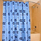 College Covers International North Carolina Tar Heels Printed Shower Curtain Cover - 70'' X 72''