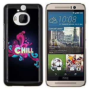 "Be-Star Único Patrón Plástico Duro Fundas Cover Cubre Hard Case Cover Para HTC One M9+ / M9 Plus (Not M9) ( Chill floral Tipografía"" )"