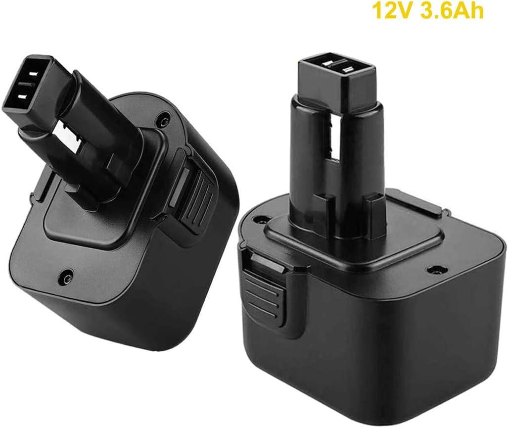 2Pack 12V 3.6Ah DC9071 NiMh Replacement Battery for Dewalt 12Volt DW9072 DW9071 DE9037 DE9071 DE9072 DE9074 DE9075 152250-27 397745-01