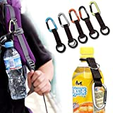 Auch 5Pcs Portable Carabiner Water Bottle Drink Buckle Hook Holder Clip Key Chain Ring for Camping Hiking Traveling