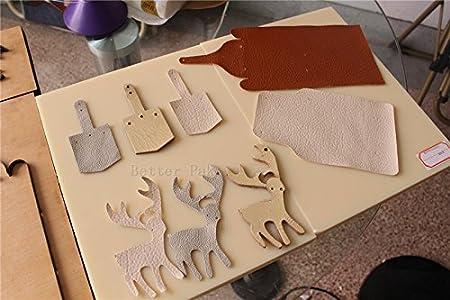 CGOLDENWALL - Cortador de hojas de PVC y EVA manual de cuero, 22 x 14 cm, para máquina de cortar troquelado: Amazon.es: Hogar