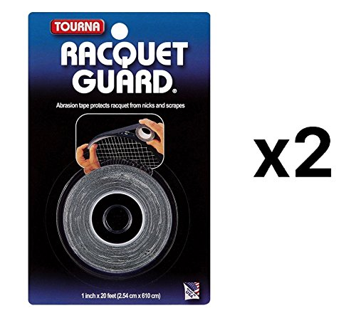 - Tourna Racquet Guard Tape Tennis Racket Head Protection Durable 20' Roll 2-Pack
