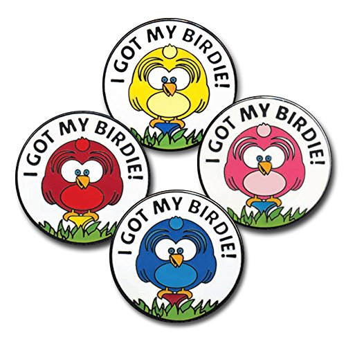 CHICK ON TEE GOLF BALL MARKERS (4) Chick Womens Tee