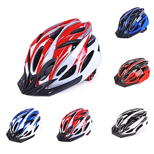 Bronkey Cycle Helmet Mens Road Bike Cycling Bicycle Helmets Adjustable Lightweight Adults Mens Womens Ladies for BMX…