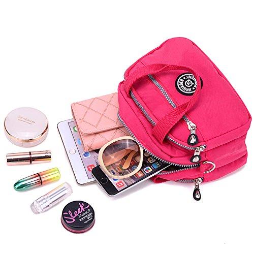 Handbag Bag Girls Waterproof 2 Casual Cross Red Women for Satchel Body Bag Outreo Bag Shoulder Side Sport Small Messenger Bag Lightweight w5FPCP1Sqc