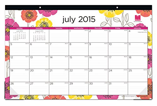 Calendar Planner Nodejs : July june poppy desk pad calendar