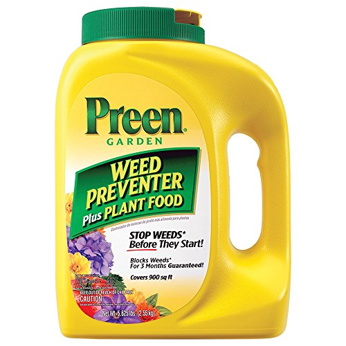 Preen Garden Weed Preventer Plus Plant Food - 5.625 lb Covers 900 sq. ft.