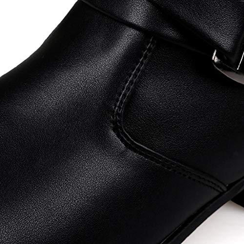 Stivali Pelliccia Invernali Uomo Liquidazione Caviglia Sneakers Scarpe Abcone Vendita Eleganti Pelle Nero Chelsea Antiscivolo Stivaletti Occidentali fIw7E5tqn