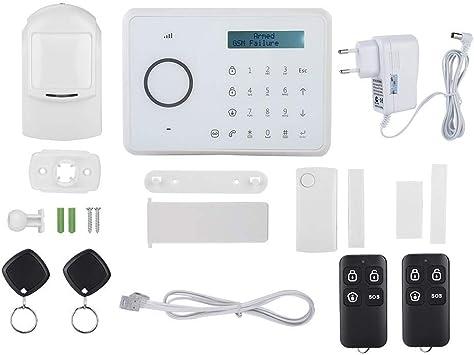 gsm Infrarrojo Alarma, Control Inalámbrico gsm/Pstn Teclado Táctil Pantalla LCD Teclado Alarma de Seguridad para El Sistema de Alarma de Seguridad ...
