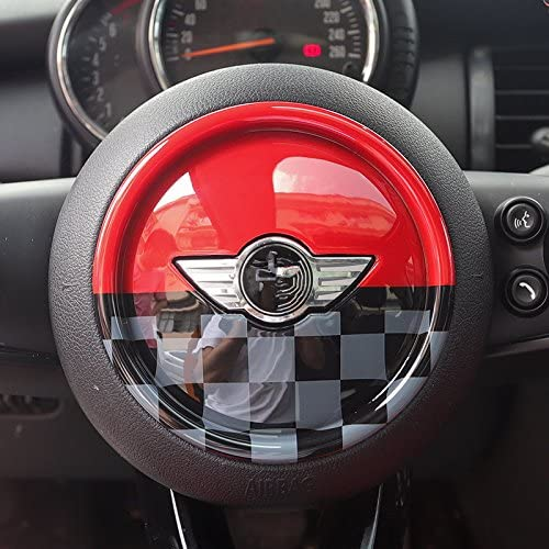 ABS Plastic Steering Wheel Decoration Ring Decal Trim Cover for Mini Cooper F54 Clubman F55 Hardtop F56 Hatchback F57 Covertible F60 Countryman Black
