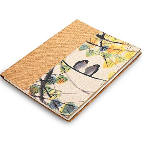 (Gumindaris Hardcover Sketch Book with Spiral Bound, Fine Linen Textured, Sketch pad 8.5