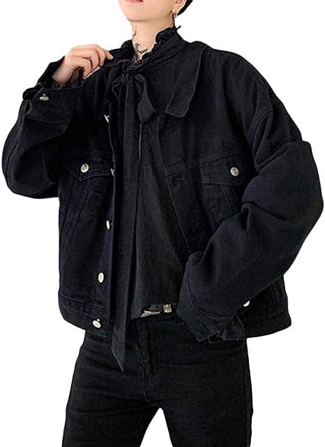 BeiBang(バイバン)デニムジャケット メンズ ジージャン 長袖 ゆったり Gジャン デニム ショート丈 アウター カジュアル おしゃれ 春 ジャケット ストリート系